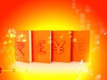 Muestra de moneda stock de ilustración