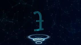 Muestra de moneda azul del espacio Libra esterlina Gran Bretaña Dinero en circulación internacional 4K ilustración del vector
