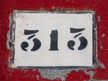Muestra de número de casa Imagen de archivo
