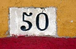 Muestra de número de casa Imagen de archivo libre de regalías