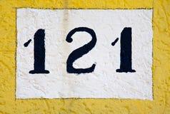 Muestra de número de casa Fotografía de archivo