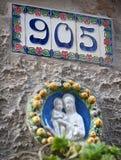 Muestra de número de casa Fotos de archivo