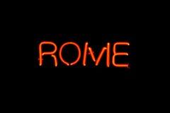 Muestra de neón de Roma Fotos de archivo libres de regalías