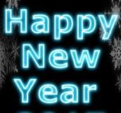 Muestra de neón del Año Nuevo Imagenes de archivo