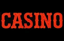 Muestra de neón del casino imagen de archivo
