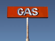 Muestra de neón del gas del desierto de la vendimia Fotografía de archivo