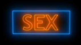 Muestra de neón del sexo representación 3d almacen de metraje de vídeo
