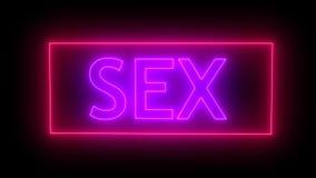 Muestra de neón del sexo representación 3d stock de ilustración