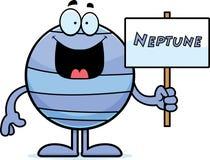 Muestra de Neptuno de la historieta Imágenes de archivo libres de regalías