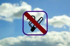 Muestra de no fumadores Imágenes de archivo libres de regalías