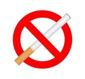Muestra de no fumadores Foto de archivo libre de regalías
