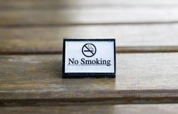 Muestra de no fumadores blanca exhibida Foto de archivo libre de regalías