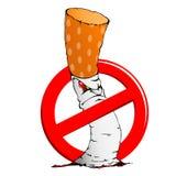 Muestra de no fumadores con un cigarrillo ilustración del vector
