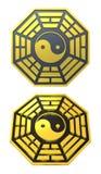 Muestra de oro del símbolo de Bagua Yin Yang libre illustration