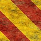 Muestra de peligro de cuidado de Red&Yellow Fotos de archivo