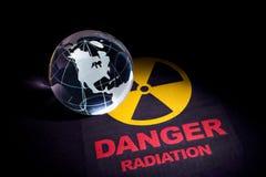 Muestra de peligro de radiación Imagen de archivo libre de regalías