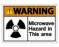 Muestra de peligro de la microonda de Wirning en el fondo blanco, ejemplo del vector libre illustration
