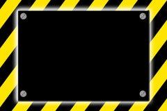 Muestra de peligro rayada de la precaución Fotos de archivo