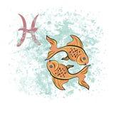 Muestra de Piscis del zodiaco Fotos de archivo libres de regalías