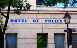 Muestra de police del hotel Fotos de archivo libres de regalías