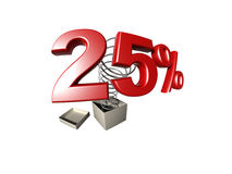 Muestra de porcentaje Imagen de archivo libre de regalías