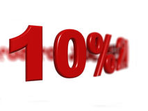 Muestra de porcentaje Fotografía de archivo libre de regalías