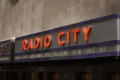 Muestra de radio de la ciudad, New York City fotografía de archivo libre de regalías