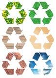 Muestra de reciclaje conceptual Foto de archivo libre de regalías