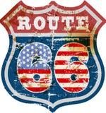 Muestra de Route 66, retro y sucio libre illustration
