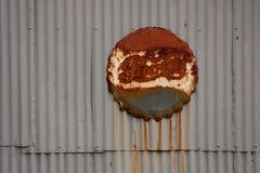 Muestra de Rusty Pepsi-Cola Fotos de archivo