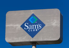 Muestra de Sam's Club Foto de archivo libre de regalías