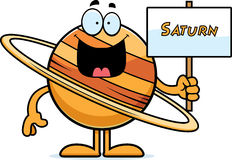 Muestra de Saturn de la historieta Imágenes de archivo libres de regalías