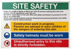 Muestra de seguridad del sitio Foto de archivo