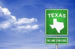 Muestra de Tejas - de Texas Highway stock de ilustración