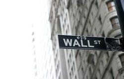 Muestra de Wall Street Fotografía de archivo libre de regalías