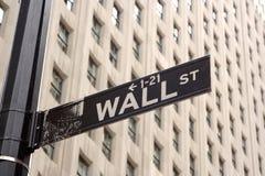 Muestra de Wall Street Imagen de archivo