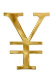 Muestra de Yenes del oro Imagen de archivo