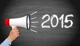Muestra del Año Nuevo 2015 Imágenes de archivo libres de regalías