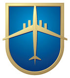 Muestra del aeroplano, insignia del aeropuerto Imagenes de archivo