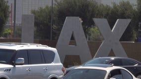 Muestra del aeropuerto internacional de LAX Los Ángeles almacen de video
