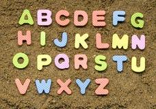 Muestra del alfabeto Fotografía de archivo libre de regalías