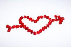 Muestra del amor con la flecha Imagen de archivo libre de regalías