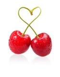 Muestra del amor de la cereza Imagen de archivo libre de regalías