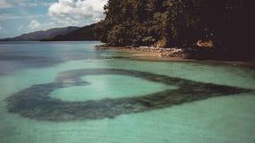 Muestra del amor debajo del agua imagen de archivo