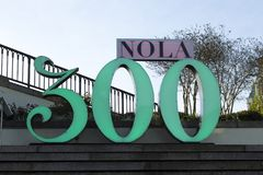 Muestra del aniversario del ` de New Orleans 300a Fotografía de archivo libre de regalías
