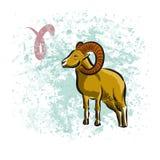 Muestra del aries del zodiaco Fotos de archivo libres de regalías