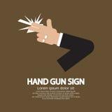 Muestra del arma de la mano Imagen de archivo