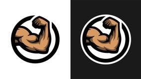 Muestra del bíceps, dos opciones Foto de archivo