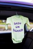 Muestra del bebé a bordo Imagenes de archivo
