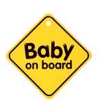 Muestra del bebé a bordo Fotografía de archivo libre de regalías